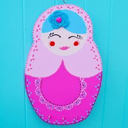 Light pink russian doll