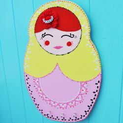 Yellow russian doll